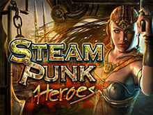 Игра на зеркале казино Вулкан в игровом автомате Steam Punk Heroes